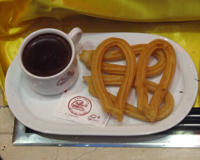 madrid hot chocolate churros