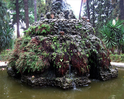 mt parnassus grotto alcazar gardens seville