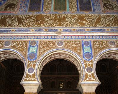 peacock arch alcazar seville