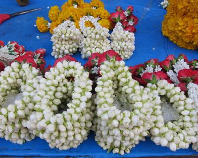 bangkok flower garlands