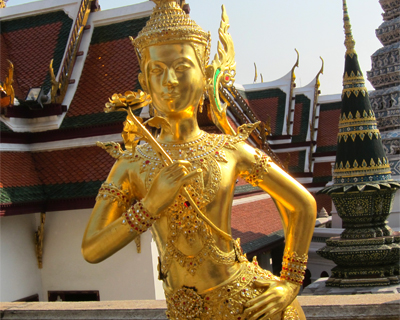 wat phra kaew lion angel mythical creature