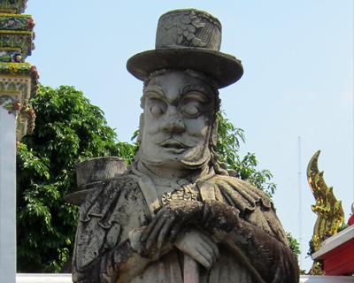 bangkok wat pho stone giant chinese ballast
