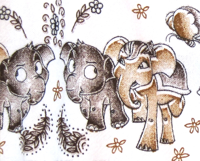 elephants decorating children's clothing