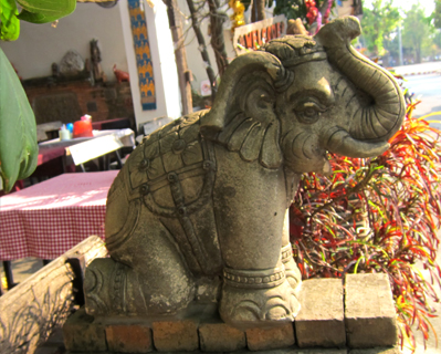elephant restaurant decoration