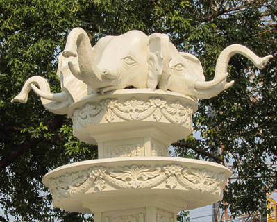 three headed elephant
