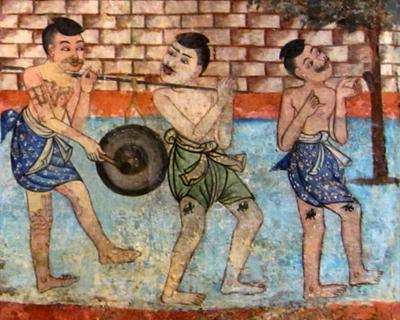 chiang mai wat phra singh murals