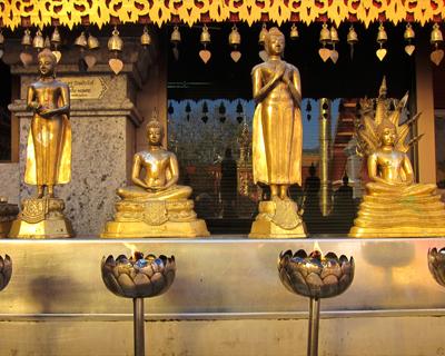 thailand wat doi suthep golden buddhas