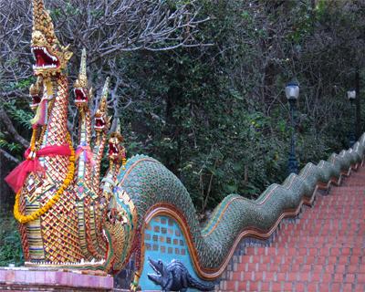 thailand wat doit suthep naga stairway
