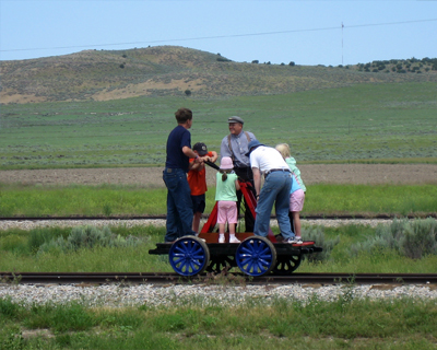 try a railroad hand cart