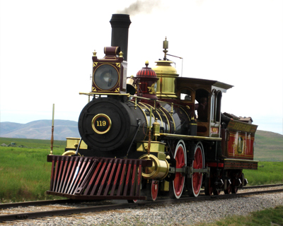 central pacific no 119 steam locomotive