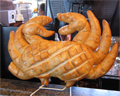 sourdough bread crab
