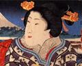Painting Edo lady