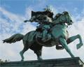 Samurai statue Imperial Palace Outer Garden Tokyo