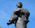 Statue of Oishi ronin 47 Sengakuki temple