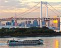 Rainbow Bridge and waterbus Tokyo